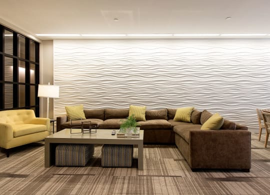 Community Clubroom and Resident Lounge at Gatehouse 75, Massachusetts