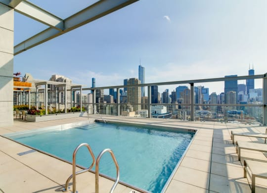 Eight O Five Apartments Rooftop Pool with a City View-805 N. Lasalle, Chicago