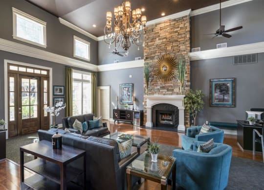 Posh Lounge Area In Clubhouse at Wyndchase at Aspen Grove, Tennessee