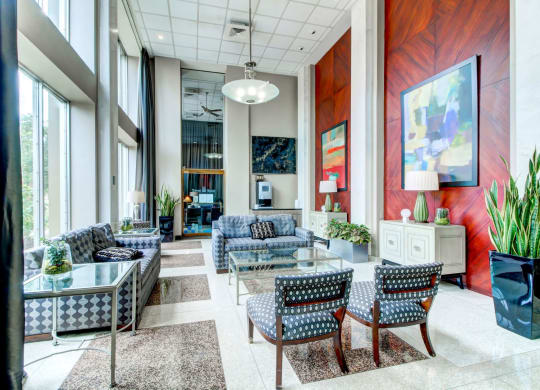 Resident Lounge at Towne House apartments on the Central West end