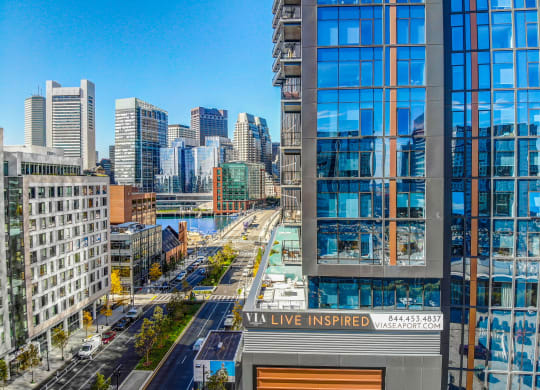 Boston Seaport Apartments with Balconies and Scenic Views