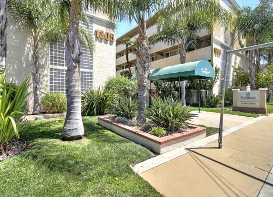 Apartment Entrance at Courtyard, Redwood City, California