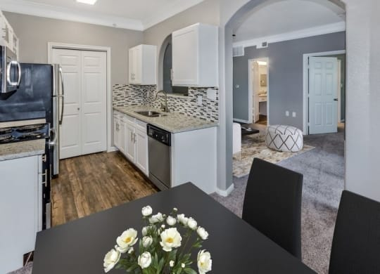 Model kitchen and dining room