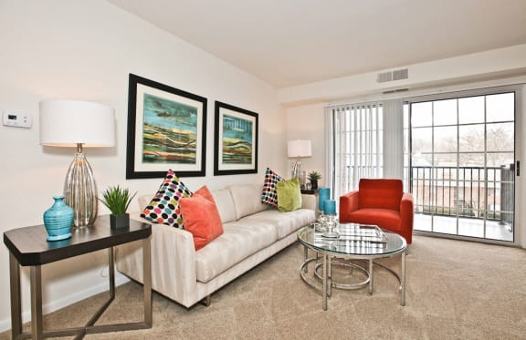 Beautiful Living Room at Fairfax Square