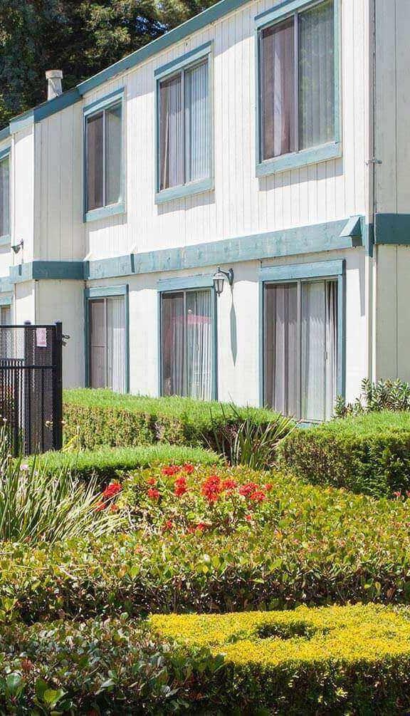 Courtyard Garden Space at Oak Pointe, California