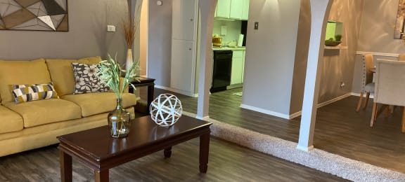 Livingroom at Wellington Estates Apartments in San Antonio TX 4-2020