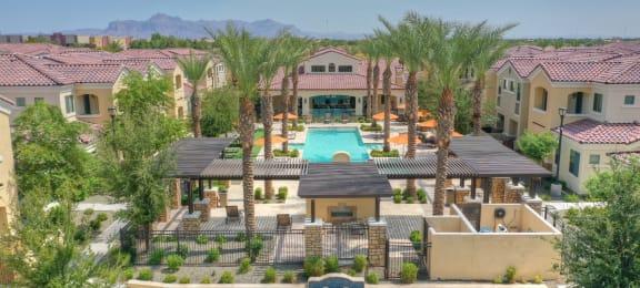 Pool Area at Bella Victoria Apartments in Mesa Arizona January 2021 2