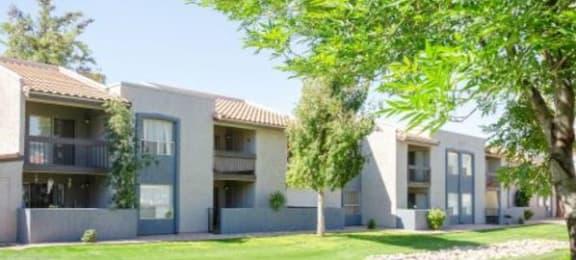 Green Space Walking Trails at Aztec Springs Apartments, Mesa, 85207