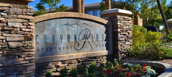 Welcoming Property Signage at Canyon Ridge Apartments, Surprise, AZ
