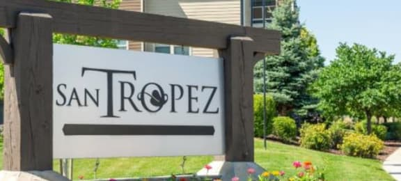 Elegant Entry Signage at San Tropez Apartments & Townhomes, South Jordan, Utah