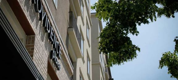 Looking Up at Providence Place Apartments - Affordable Living in Salt Lake City
