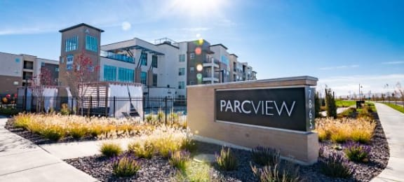 Welcoming Property Signage at Parc View Apartments & Townhomes, Midvale, UT