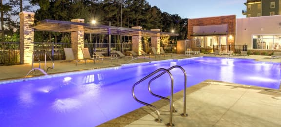 Pool at  luxury apartments in Newport News VA