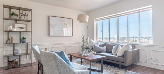 Sample Living Room at Portland Towers