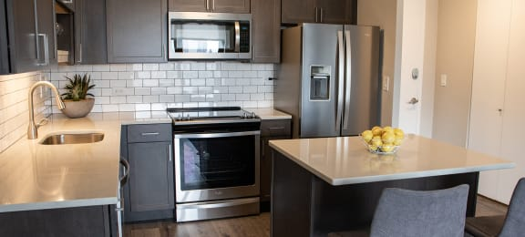 Renovated Kitchen at Reside on Barry