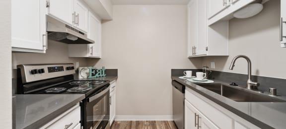 modern kitchen at Terrace Gardens Apartment Homes, Escondido