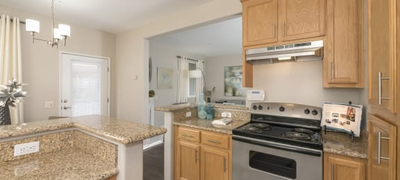 Granite Countertop Kitchen at Atwood Apartments, Citrus Heights, CA, 95610