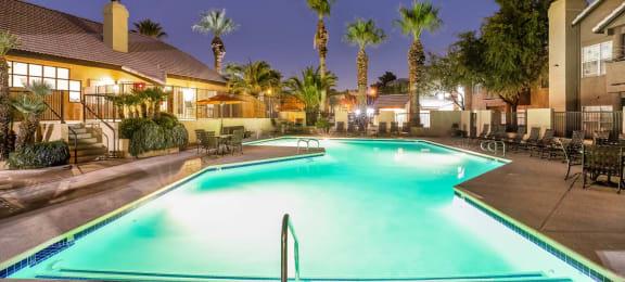 Twilight Pool at Village at Desert Lakes, Las Vegas, Nevada