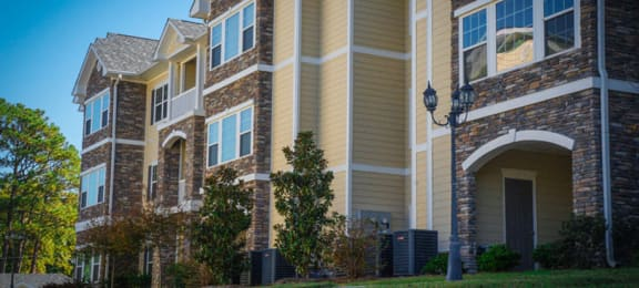 Exterior Building Stone Gate Apartments in Spring Lake NC