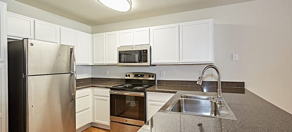 Newly upgrade kitchen with white cabinetry