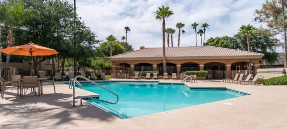 Catalina Canyon refreshing pool with sun deck.