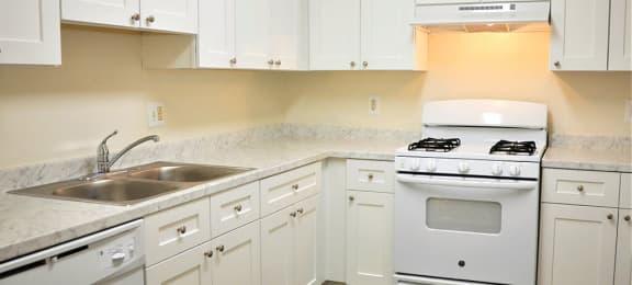 Kitchen space at Parklane Apartments in Gaithersburg, MD