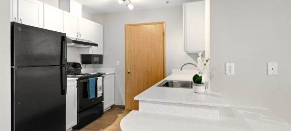 Upgraded Kitchen at Auburn Apartments in Auburn WA