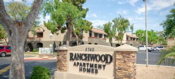 Welcoming Property Signage at Ranchwood Apartments, Glendale, AZ, 85301