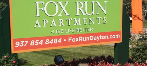 Welcome Sign at Fox Run, Dayton, 45426