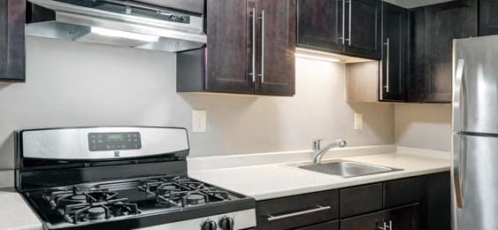 Updated kitchens at Berkshire Peak Apartments in Pittsfield, MA
