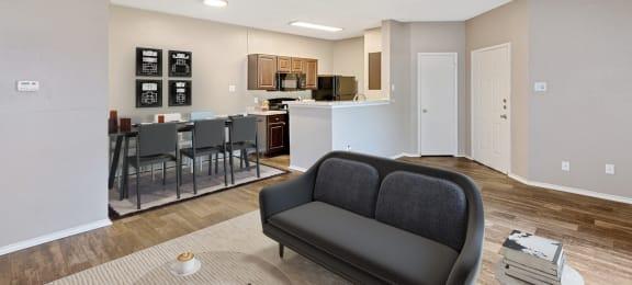 Model living room & kitchen