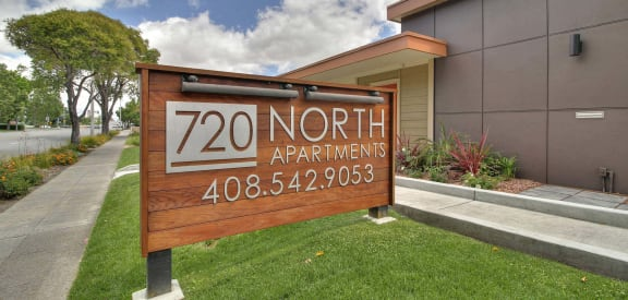 Property Sign at 720 North Apartments, Sunnyvale, CA, 94085