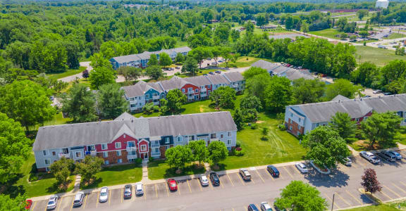 Aerial View Of Community and City at Irish Hills Apartments, South Bend, IN