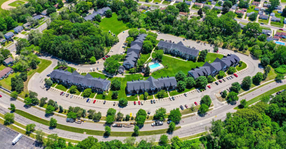 Aerial View of Property at Swiss Valley Apartments, Wyoming, 49509