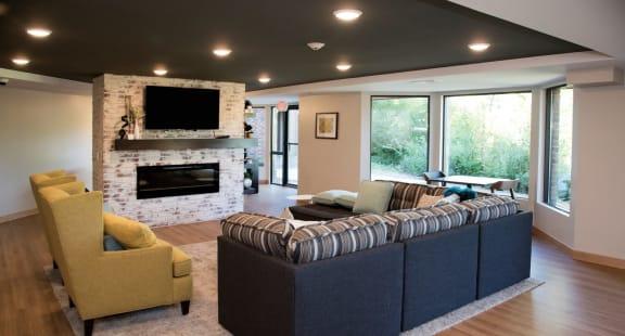 Tv In Common Area at Aspenwood Apartments, Eagan, MN