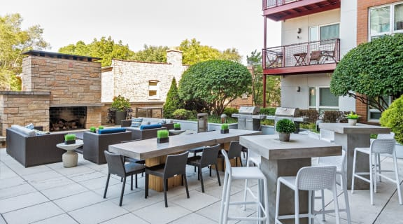 Outdoor Deck with Grilling Stations