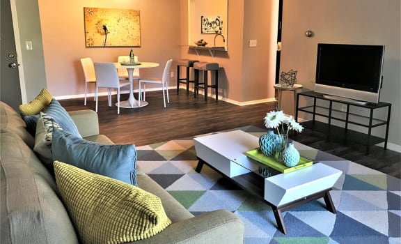 Spacious Living Room at Camelot East Apartments in Fairfield, OH