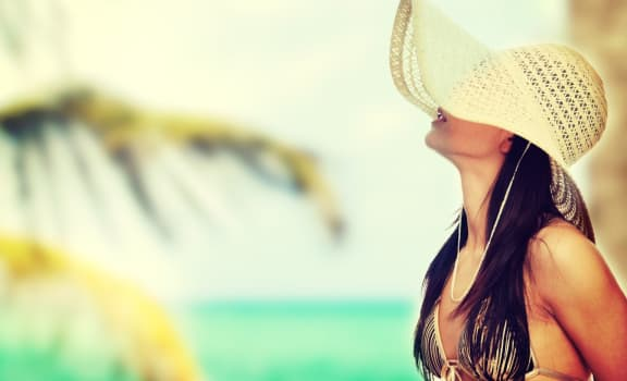 Model Posing at Berkshire Coral Gables, Florida
