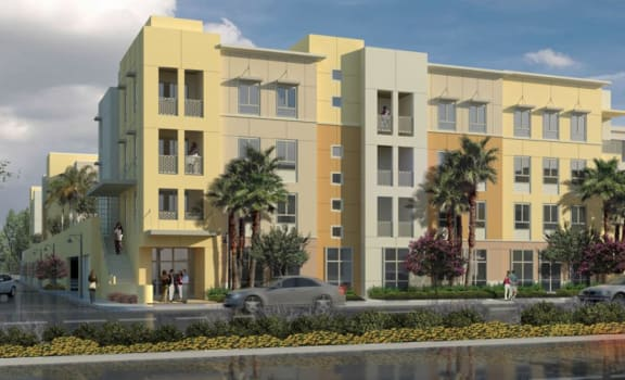 Exterior Building Rendering l Oceana Apartments in Huntington CA