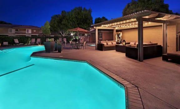 Swimming Pools with Cabana at Mirabella Apartments, California, 92203