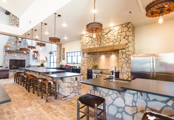 Demonstration Kitchen in Clubhouse