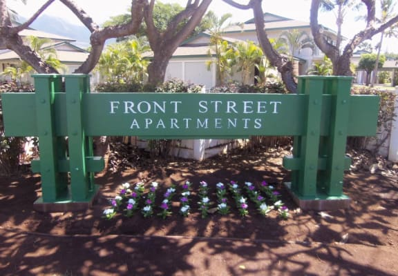 Front Street Apartments signage