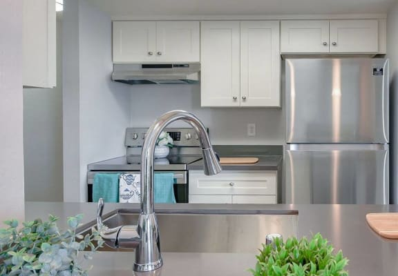 Kitchen with appliancesl Lawton Park Apartments in Seattle Wa