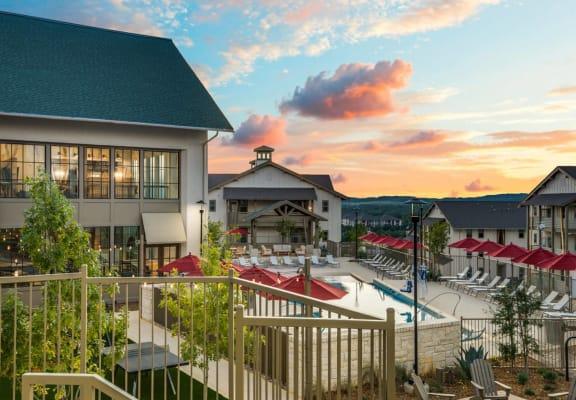 Pool-Deck Background at Vecina Apartment Villas, Texas, 78258