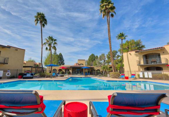 Resort style swimming pool at Vertu Apartments