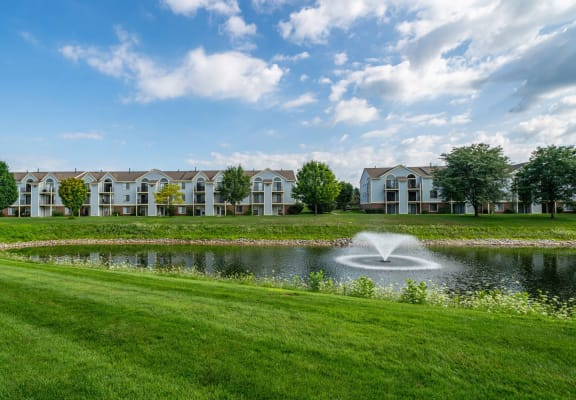 Lake With Lush Natural Surrounding at Arbor Lakes Apartments, Elkhart, IN, 46516