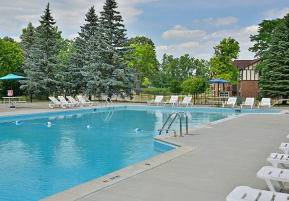 Swimming Pool With Relaxing Sundecks at Charter Oaks Apartments, Davison, 48423