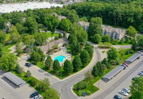 Aerial View Of The Property at The Highlands Apartments, Indiana, 46514