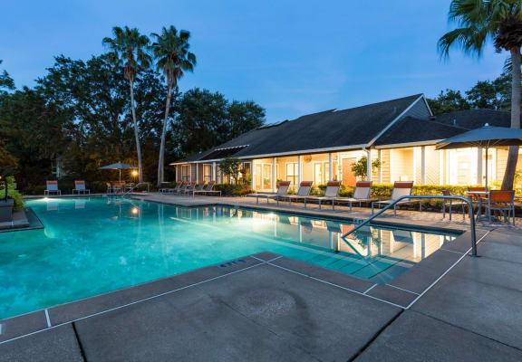Night Pool at Fountains at Lee Vista, Florida