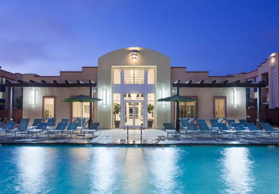 Beautiful Clubhouse With Pool at Hancock Terrace Apartments, Santa Maria, CA, 93454